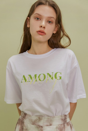 [4/10 배송] A AMONG LOGO TS_WHITE