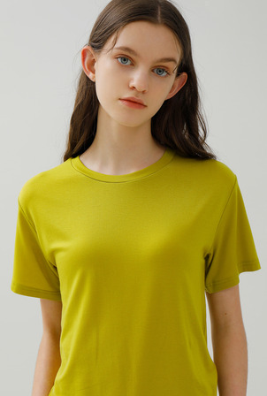 A BASIC LINE TENCEL T [2 colors]