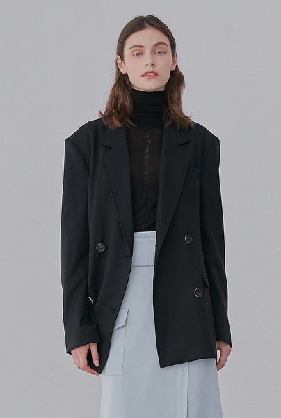 A WOOL TWILL JK_BLACK
