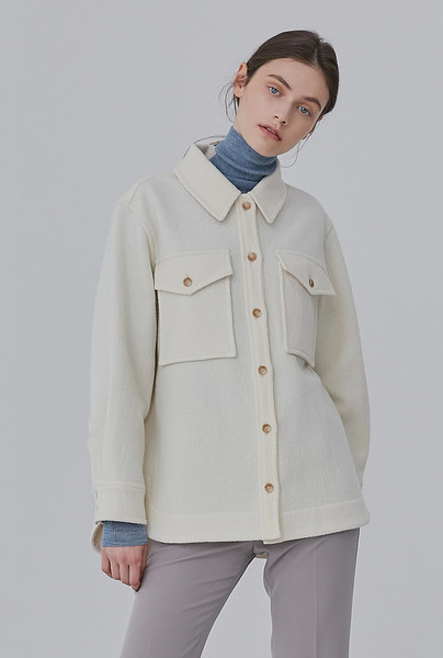 A WOOL SHIRT JK_IVORY