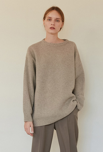 A OVERSIZED KNIT TOP_BEIGE