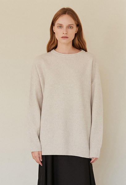 A OVERSIZED KNIT TOP_CREAM