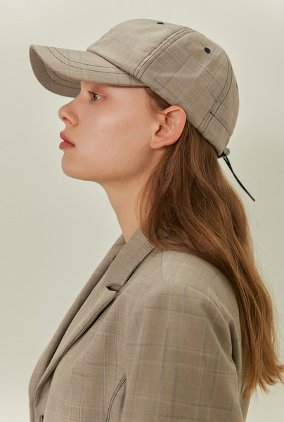 A CHECK STRING CAP_BEIGE
