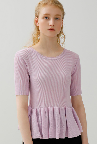 A FLARE KNIT TOP [3 colors]